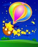 Ballon en sterren Royalty-vrije Stock Fotografie