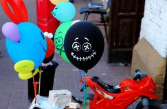 Ballon engraçado com sorriso Imagens de Stock Royalty Free