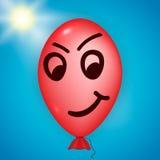 Ballon fâché rouge Photographie stock libre de droits
