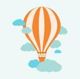 Ballon för varm luft i himlen Royaltyfria Bilder