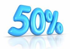 Ballon fünfzig Prozent lizenzfreie abbildung