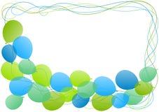 Ballon-Feldgrenzgrußkarte Stockfoto