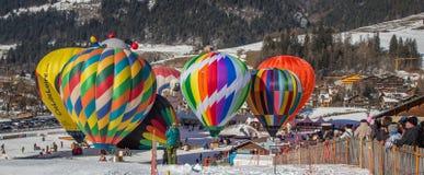 Ballon-Festival der Heißluft-2013, die Schweiz Stockbild
