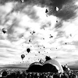 Ballon Fiesta Black and Royalty Free Stock Image