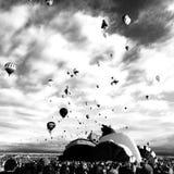 Ballon fiesta czerń i Obraz Royalty Free