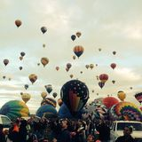 Ballon fiesta czerń i Obrazy Royalty Free