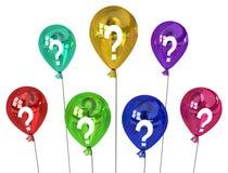 Ballon-Fragen vektor abbildung
