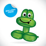 Ballon-Frosch-Illustration Stockfotografie
