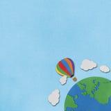 Ballon gerecycleerde document achtergrond Stock Afbeeldingen