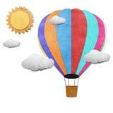 Ballon gerecycleerde papercraft achtergrond Stock Foto's