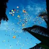 Ballon-gevulde Hemel Royalty-vrije Stock Afbeelding
