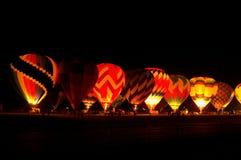 Ballon-Glühen Lizenzfreie Stockfotografie