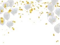 Ballon gonflable de vol d'air d'isolement sur le fond blanc plat illustration libre de droits