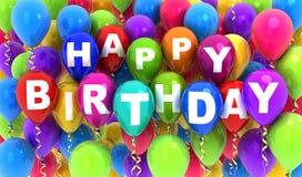 Ballon and Happy birthday Royalty Free Stock Photos