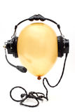 Ballon with headphone Stock Image