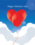 Ballon heart in sky with cloud. Ballon heart in sky and cloud Stock Photography