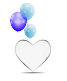 Ballon-Herz-Vektor-Illustrations-Hintergrund Lizenzfreies Stockbild