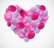 Ballon-Herz-Vektor-Illustrations-Hintergrund Stockbilder