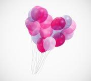 Ballon-Herz-Vektor-Illustrations-Hintergrund Lizenzfreie Stockfotos