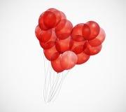 Ballon-Herz-Vektor-Illustrations-Hintergrund Stockbild