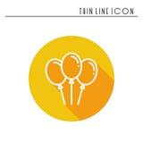 Ballon, icône de ballon à air Faites la fête la célébration, anniversaire, vacances, événement, carnaval de fête Ligne mince icôn Photographie stock