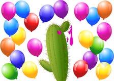 Ballon-Kaktus Stockbild