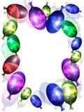 Ballon-Karte Lizenzfreies Stockbild