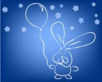 ballon królik Obrazy Stock