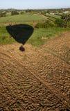 Ballon-Landung am Fidschi-Bauernhof Lizenzfreies Stockfoto