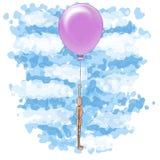 ballon latającego mężczyzna drewno Fotografia Royalty Free