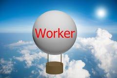 Ballon met de woordarbeider royalty-vrije stock fotografie
