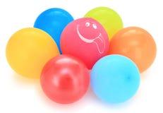 Ballon met een glimlach Stock Foto