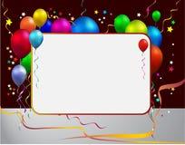 ballon met frame Stock Fotografie