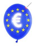 Ballon mit Eurosymbol stockbild