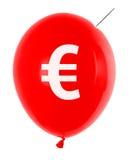 Ballon mit Eurosymbol lizenzfreie stockbilder