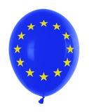 Ballon mit Markierungsfahne Lizenzfreies Stockfoto