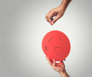Ballon and needle Royalty Free Stock Photography