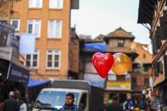 Ballon in Nepal at Bakhtapur Stock Image