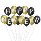 Ballon-neues Jahr-Karte Lizenzfreies Stockfoto