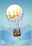 Ballon omhoog Royalty-vrije Stock Afbeelding