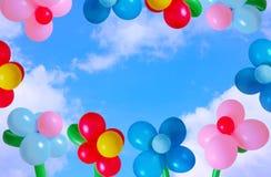 Ballon op achtergrondhemel Stock Afbeeldingen