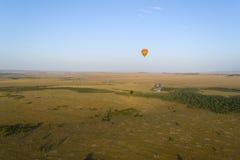 Ballon over savanne Royalty-vrije Stock Foto
