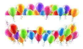 Ballon-Partei-Fahne Lizenzfreies Stockfoto
