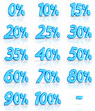 Ballon-Prozent-Marken Lizenzfreie Stockbilder
