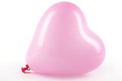 Ballon rose de coeur Photo stock