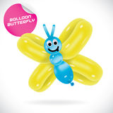 Ballon-Schmetterlings-Illustration Lizenzfreie Stockfotos