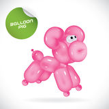 Ballon-Schwein-Illustration Stockbild