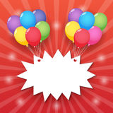 Ballon starburst achtergrond Stock Foto's