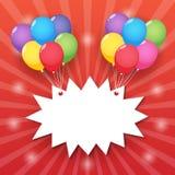 Ballon starburst Hintergrund Stockfotos