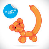 Ballon Tiger Illustration Lizenzfreies Stockfoto